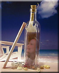 Personalized Photo Message Bottle