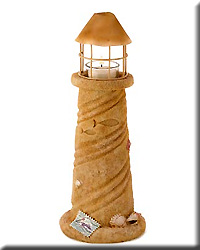 Sandcastle Lighthouse Candle Lamp