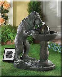 Thirsty Dog Solar Fountain