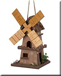 Whimsical Windmill Bird House