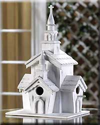Little White Chapel Bird House