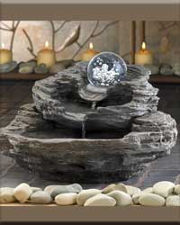 Rock Design Desktop Fountain