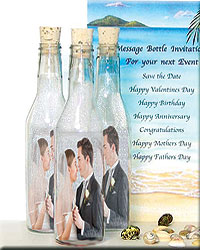 Photo Invitation Message in a Bottle