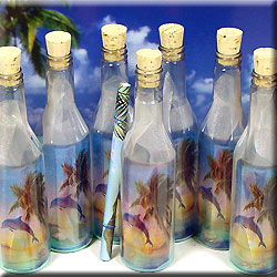 MESSAGE BOTTLE INVITATION DOLPHIN BOTTLE